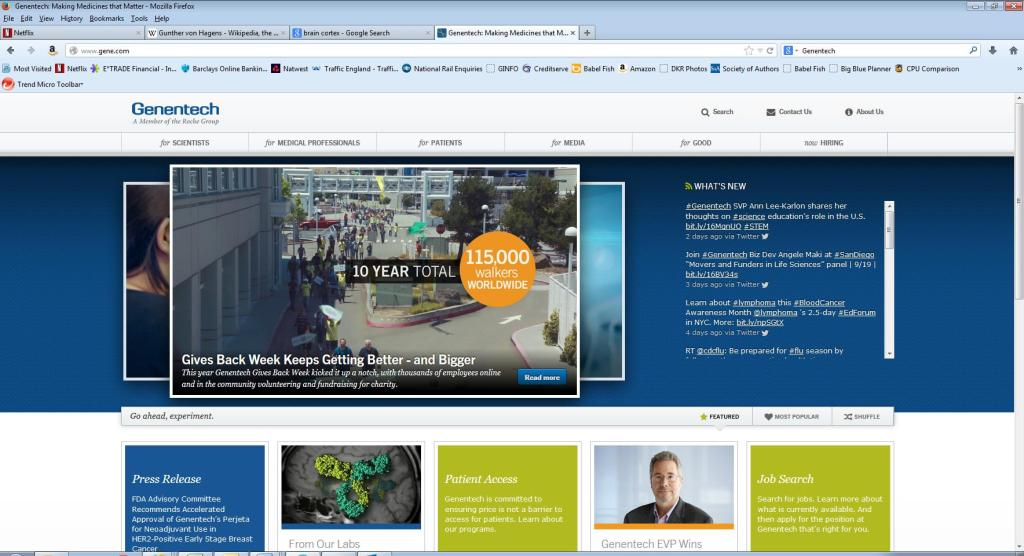 Genentech website page